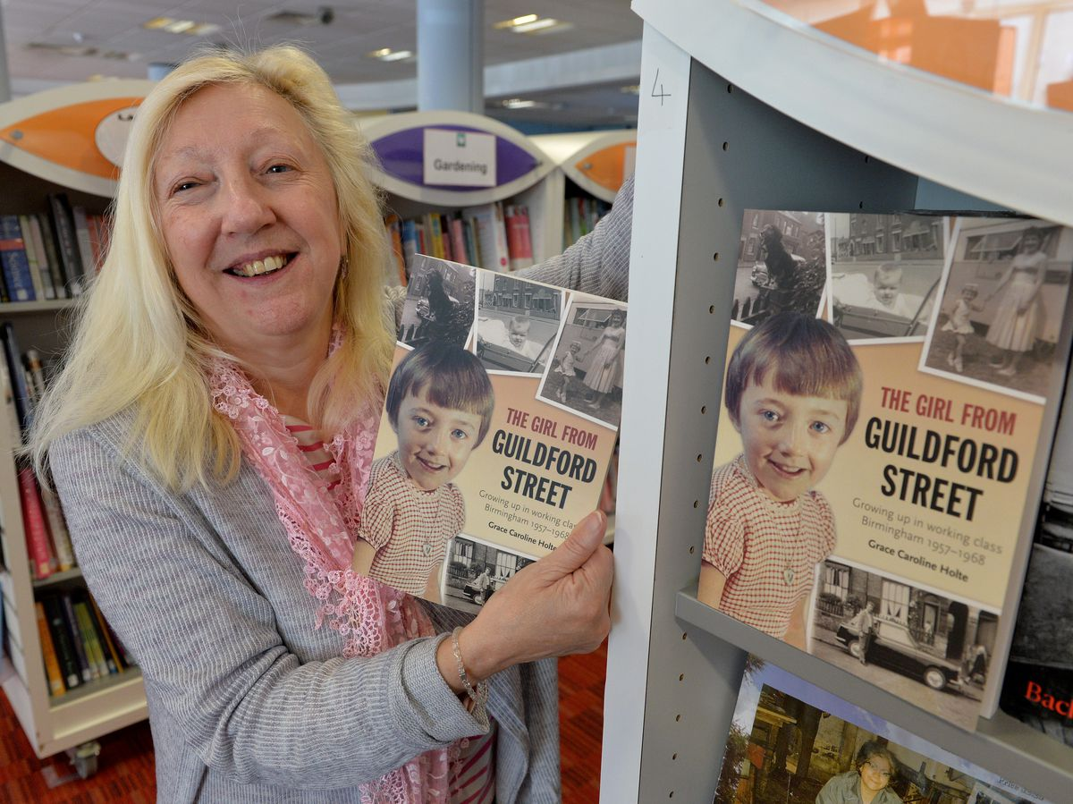 Author Grace Caroline Holte at Blackheath Library ahead of the Sandwell Libraries Literature Festival