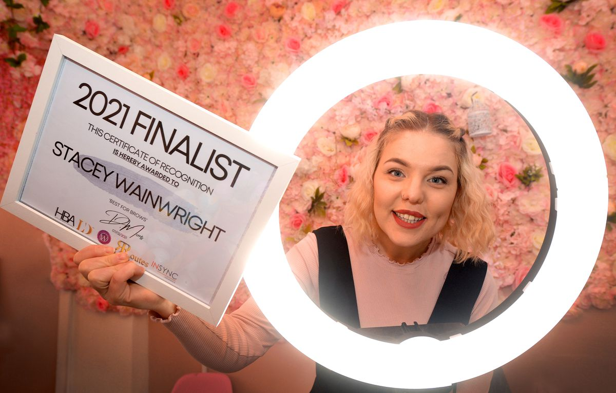 Stacey Wainwright from Creative Beauty Boutique, Wolverhampton, celebrates being a finalist in the UK hair and beauty awards.