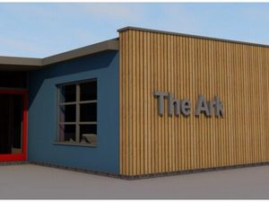 An artist's impression of the plans for the new resource centre at St Michael's Primary School, Tettenhall. Photo: Wood/Goldstraw/Yorath