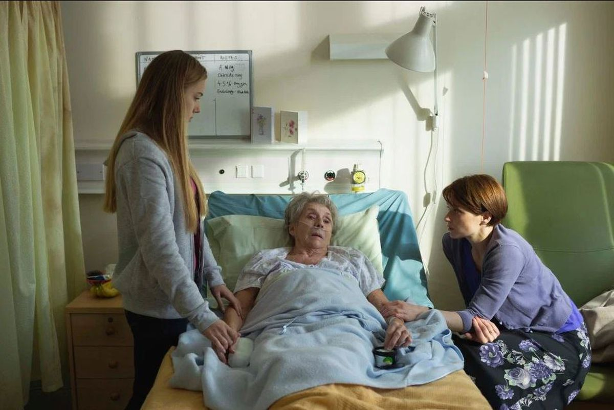 Sue Johnston, centre, also stars in The Cure as Julie Bailey's mother Bella. Image: Channel 4