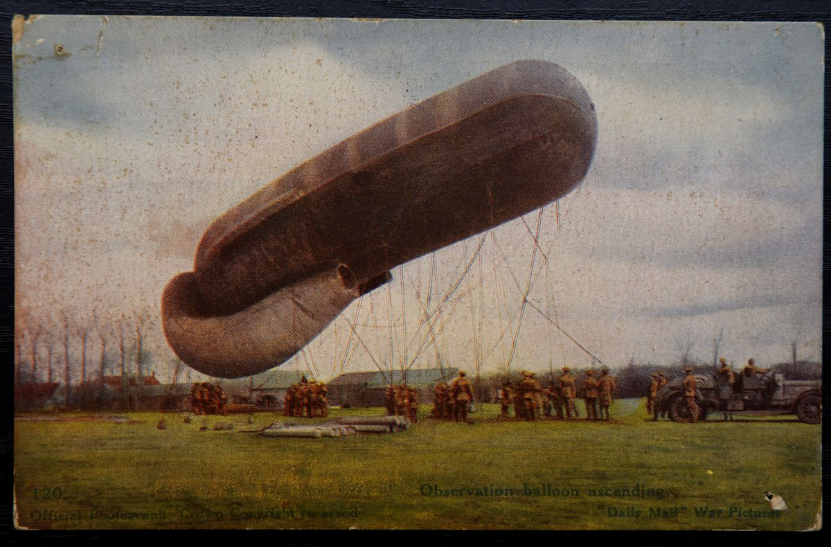There are a range of diverse lots, including this picture of a World War one airship