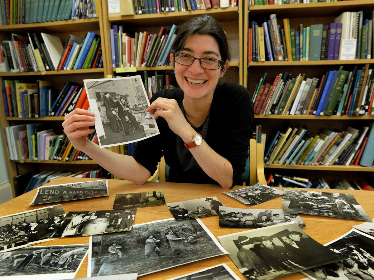 Wolverhampton senior archivist Heidi Mcintosh with some of the images at Wolverhampton City Archives