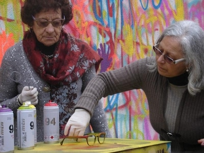 Stand out from the crowd this summer with sunglasses spray painted by grandmas