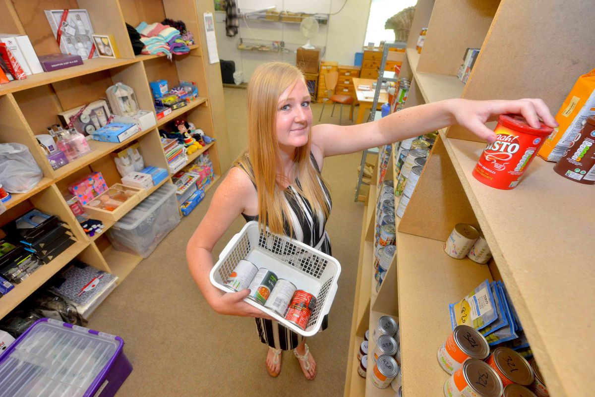 Logistics manager Amy Aldridge from Blackheath helps out with the foodbank.