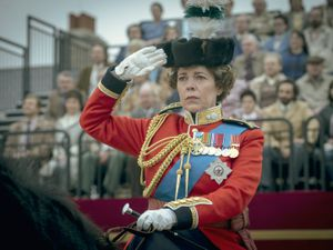 Undated Handout Photo from The Crown. Pictured: Olivia Colman as Queen Elizabeth II. See PA Feature SHOWBIZ TV The Crown. Picture credit should read: PA Photo/Netflix/Des Willie. WARNING: This picture must only be used to accompany PA Feature SHOWBIZ TV The Crown.