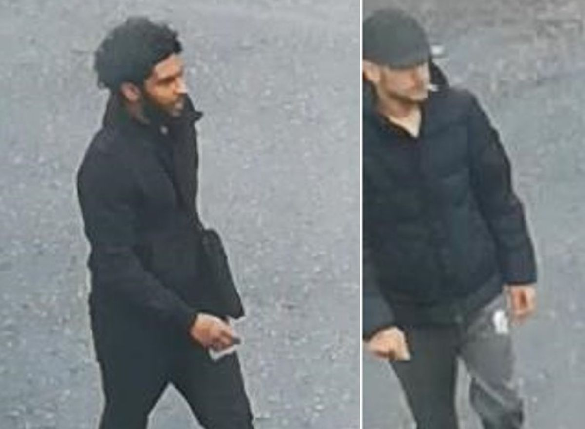 Police have issued this image of two men they want to speak to. Photo: West Midlands Police.
