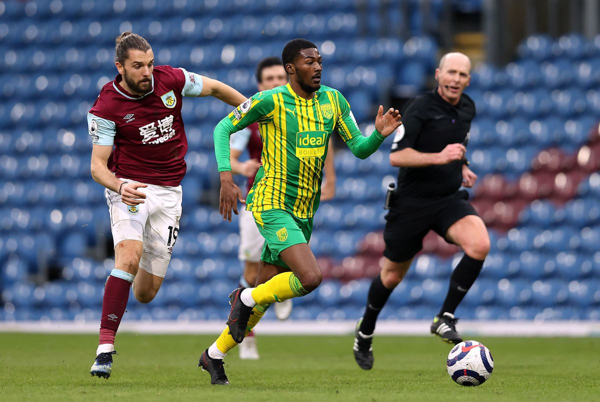 Albion's Ainsley Maitland-Niles and Burnley's Jay Rodriguez