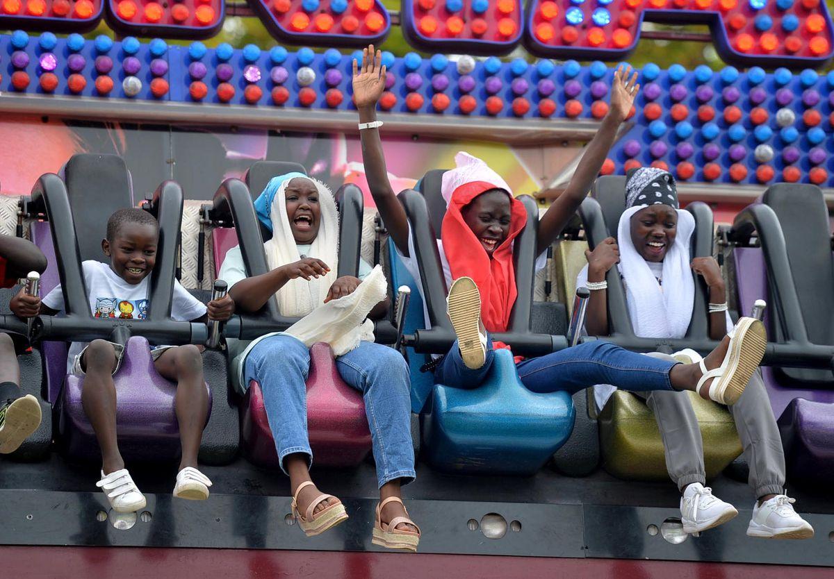 Enjoying the fun fair