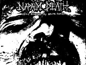 The artwork for Napalm Death's Logic Ravaged By Brute Force EP