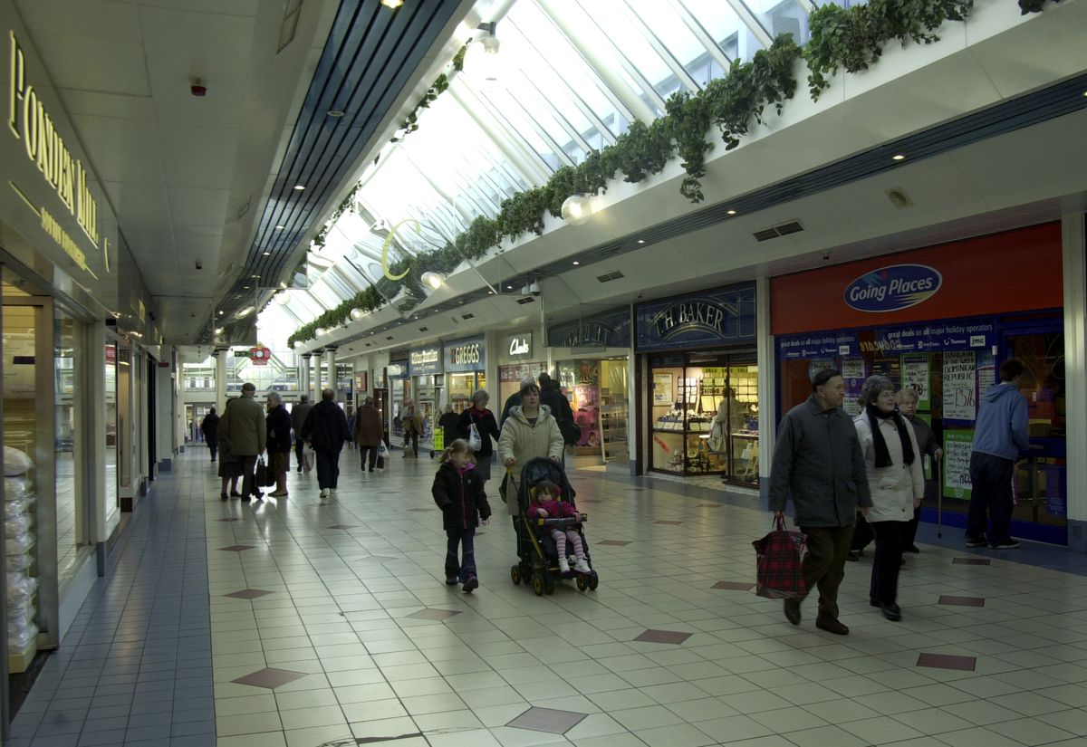 Halesowen shopping centre is also bucking the trend