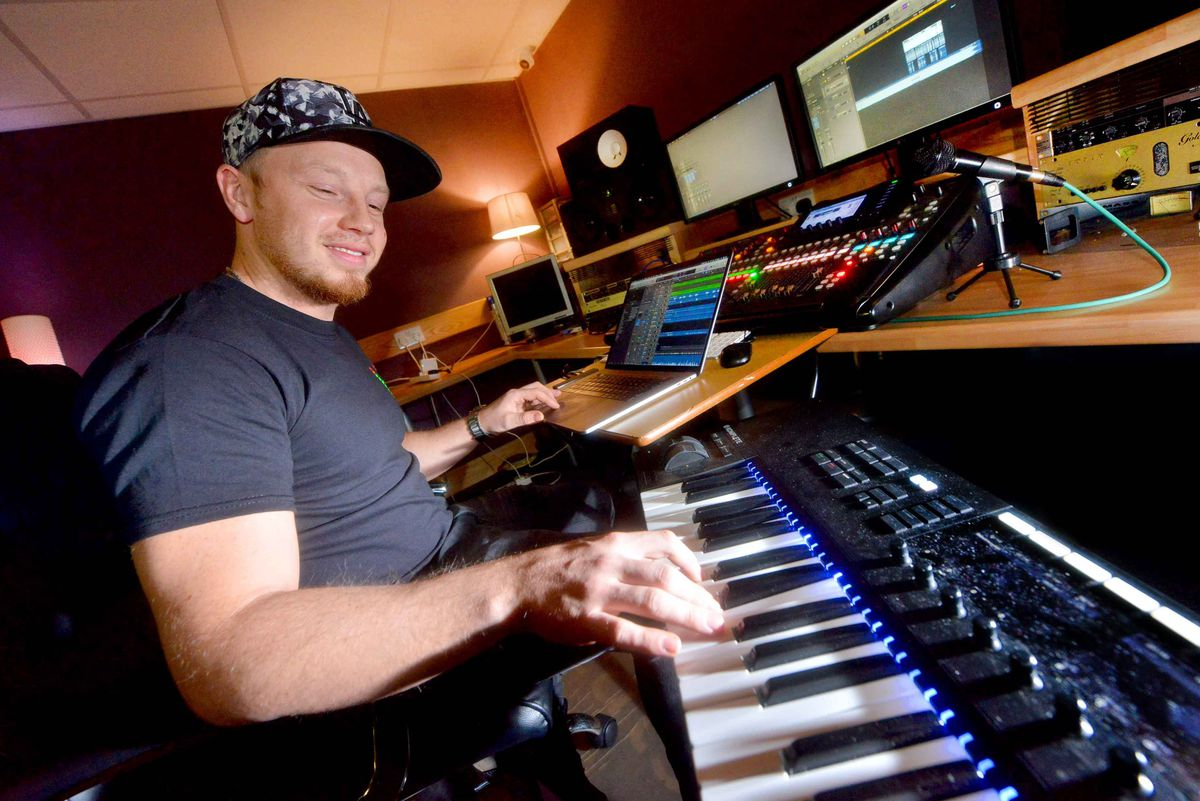Co-director Mitch Crane, from Wolverhampton, in the Beatsabar studio