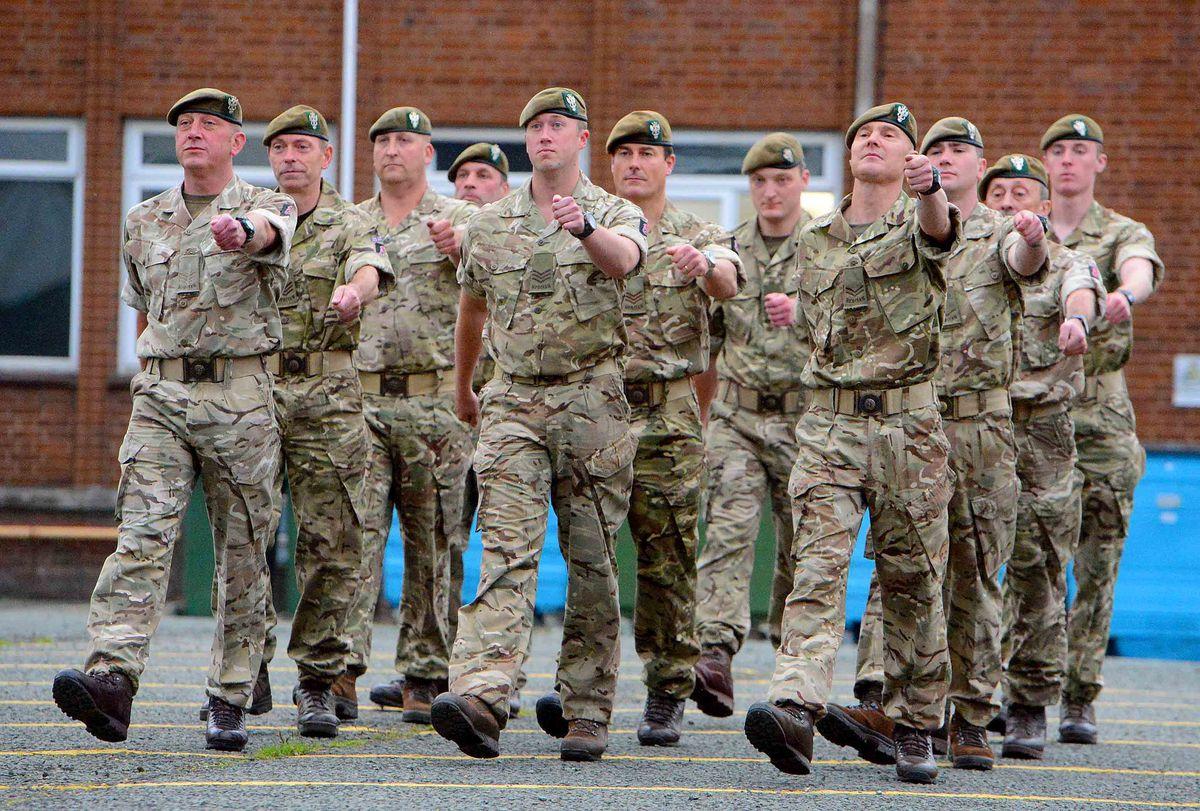 Members of 4th Battalion, The Mercian Regiment