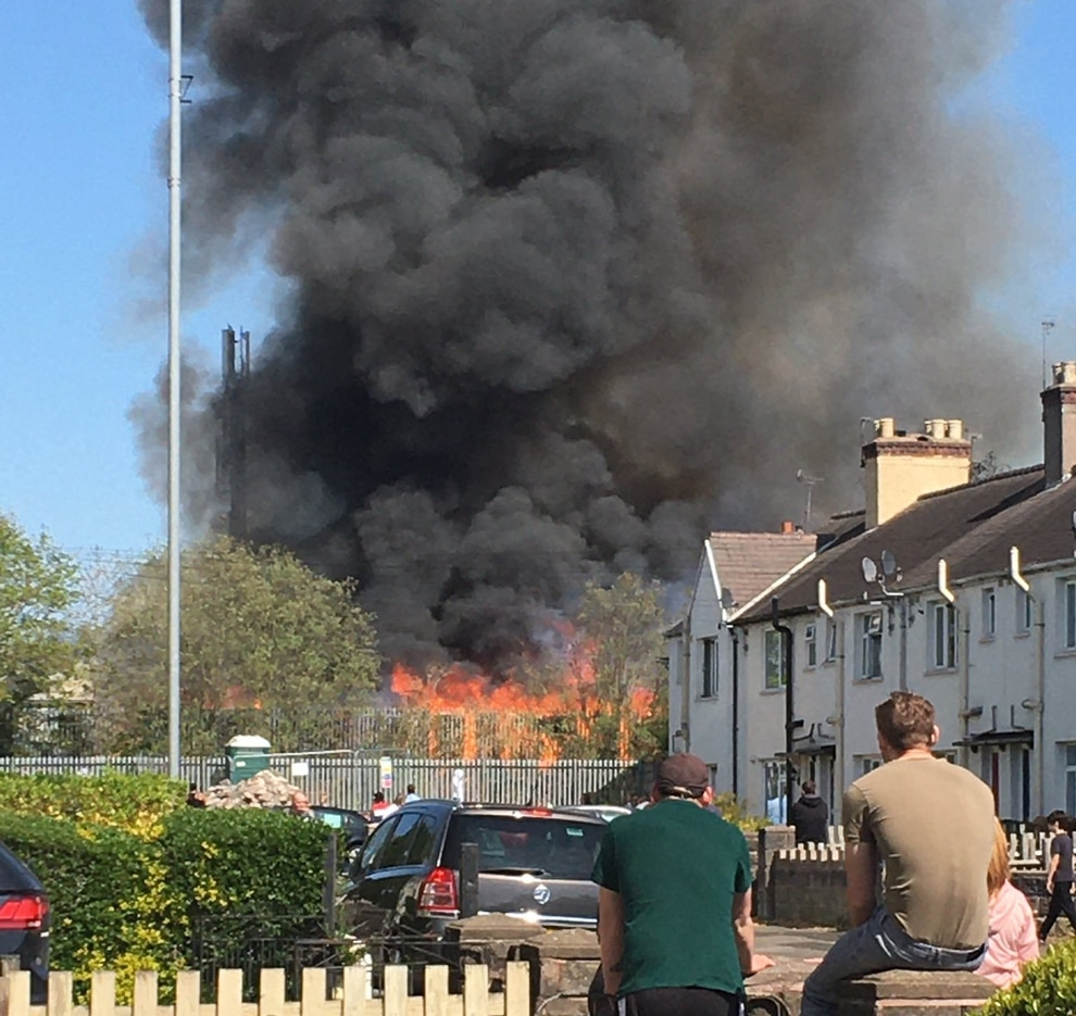 GALLERY: Huge Smoke Plume From Willenhall Recycling Fire