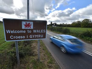 A welcome to Wales sign near Llangua in Monmouthshire