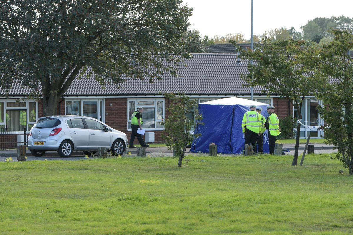 A police tent at the scene in Cavendish Road. Photo: SnapperSK