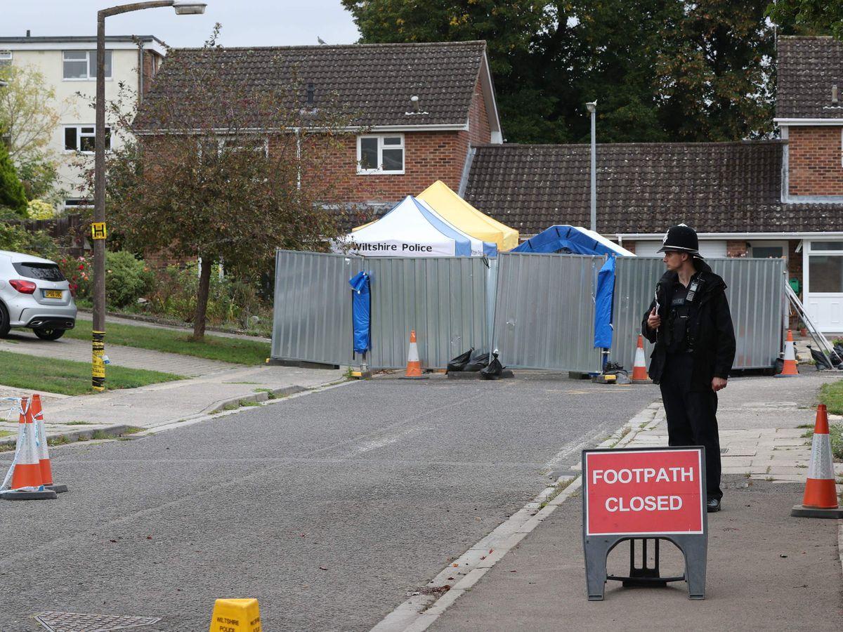 The home of former Russian spy Sergei Skripal on Christie Miller Road in Salisbury, Wiltshire