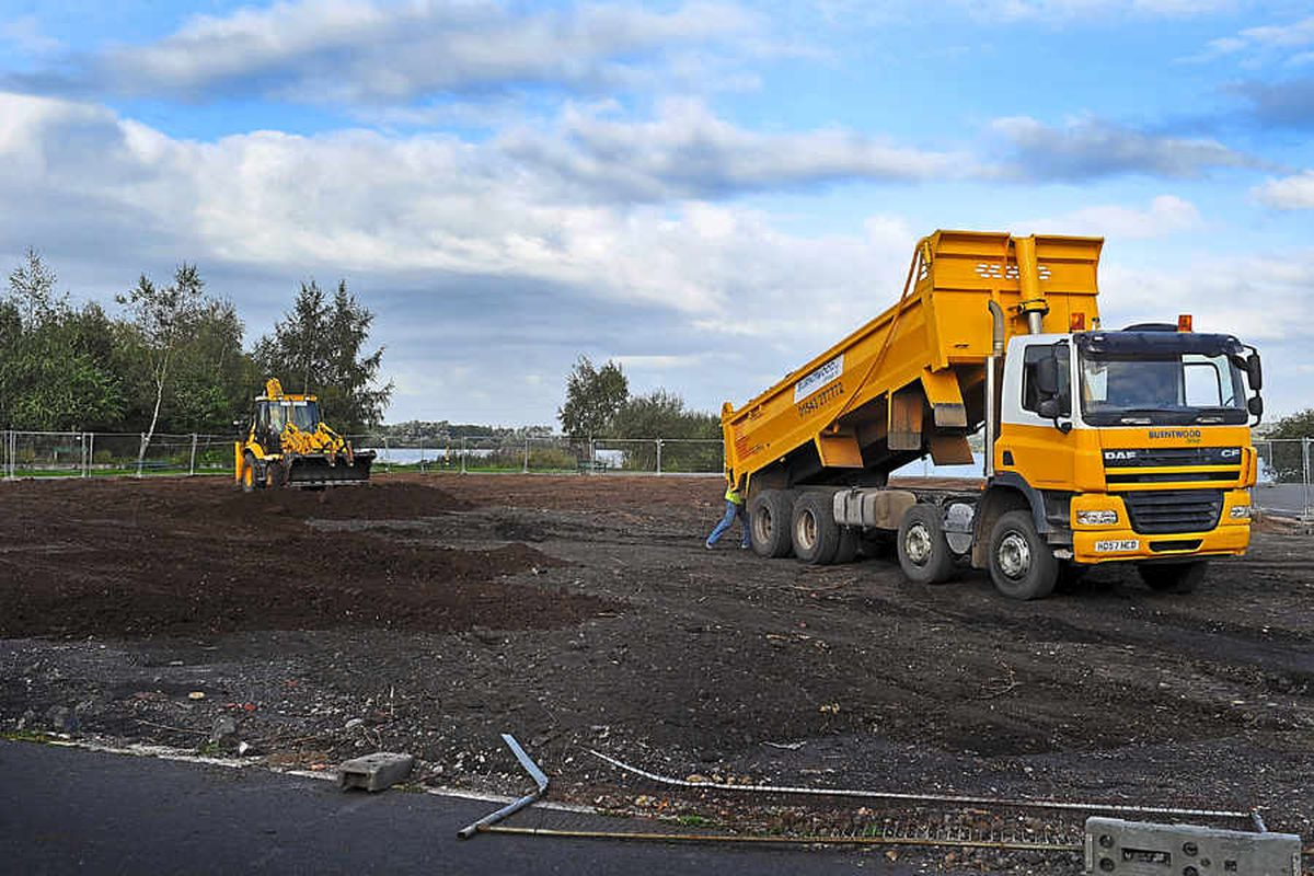 Going, going, gone - Chasewater boating pool is no more after work to fill it