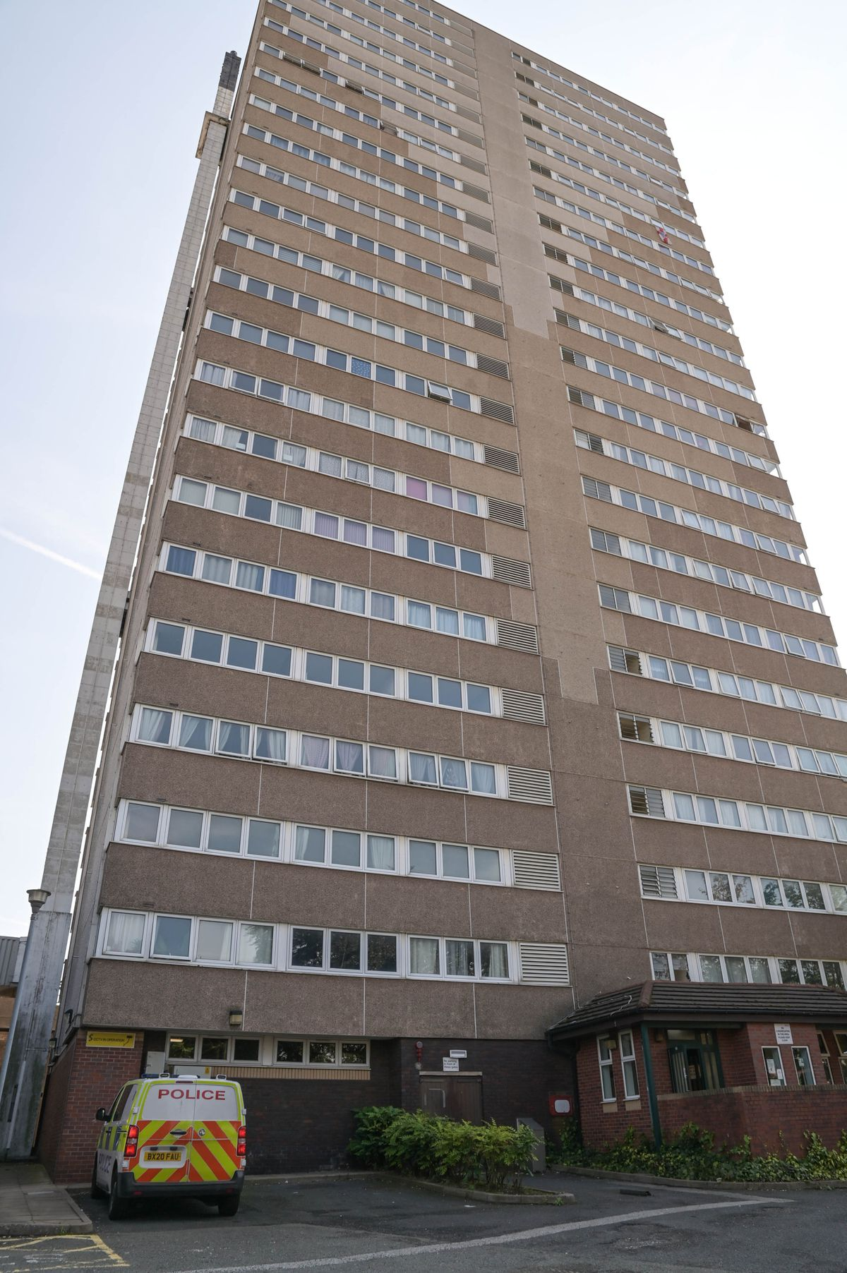 Police have also been searching the high-rise flats in Heath Town where Ms Jerrare lived. Photo: SnapperSK