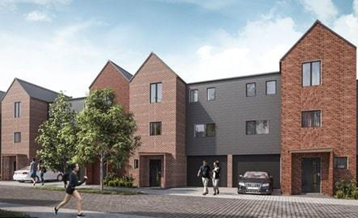 An artist's impression of how 'The Marches' housing estate in Wednesfield will look once completed. Image: Wolverhampton Council/WV Living.