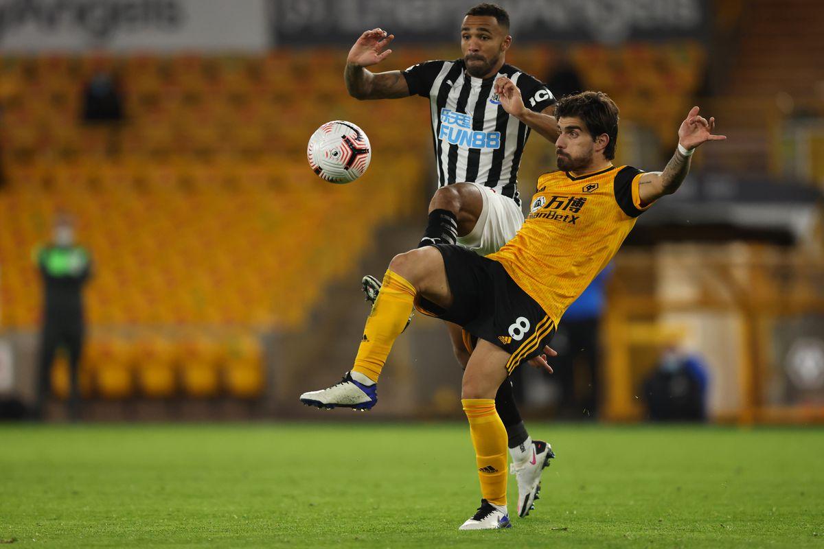 Ruben Neves of Wolverhampton Wanderers and Callum Wilson of Newcastle  (AMA)