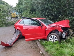 Driver injured as car wrecked in A34 crash