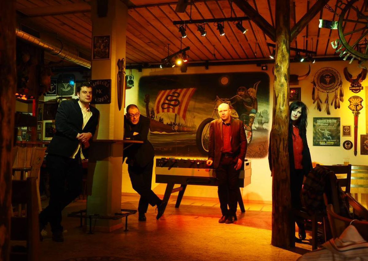 The Nightingales, from left: Andreas Schmid, Robert Lloyd, James Smith and Felicity Kitson