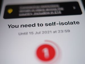 Nearly 700,000 people across England and Wales were asked to self-isolate last week