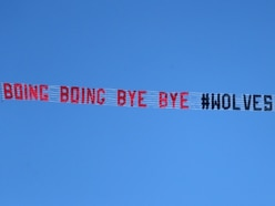 'Boing boing bye bye': Wolves fans fly banner over The Hawthorns