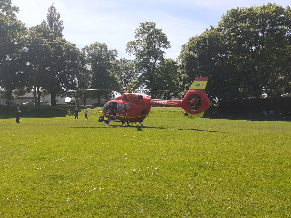 The air ambulance in Netherton