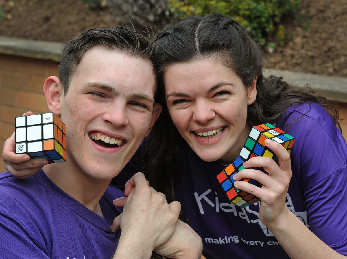 Rosie Hazeldine and her cousin Ben Phillips set themselves a challenge of completing 100 Rubik Cubes in 100 minutes