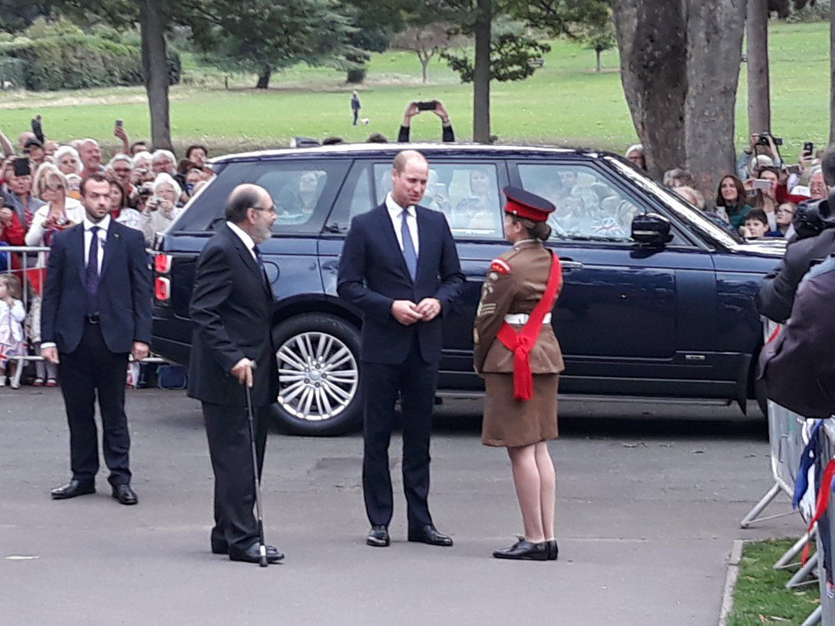 Prince William arrives in Stourbridge Credit: Dudley Council