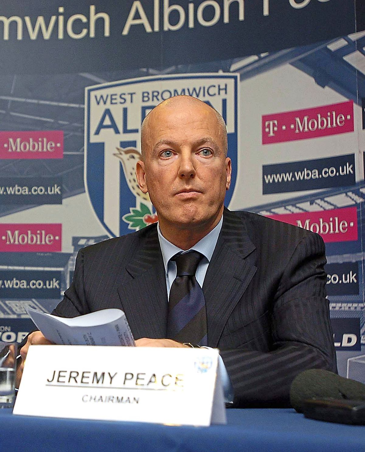 Former Albion chairman Jeremy Peace
