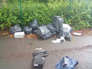 The rubbish which was dumped on Perrott Street, Smethwick. Photo: Sandwell Council