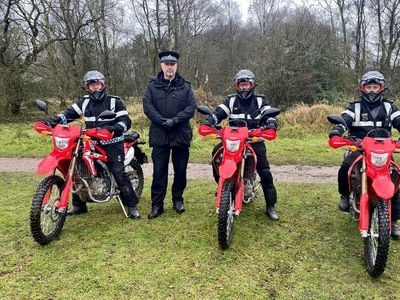 Staffordshire Police using off-road motorbikes to catch lout riders