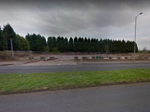 Land off Queslett Road where the apartments could be built