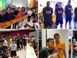Wolves in China: Huge crowd flock to launch of new Shanghai megastore