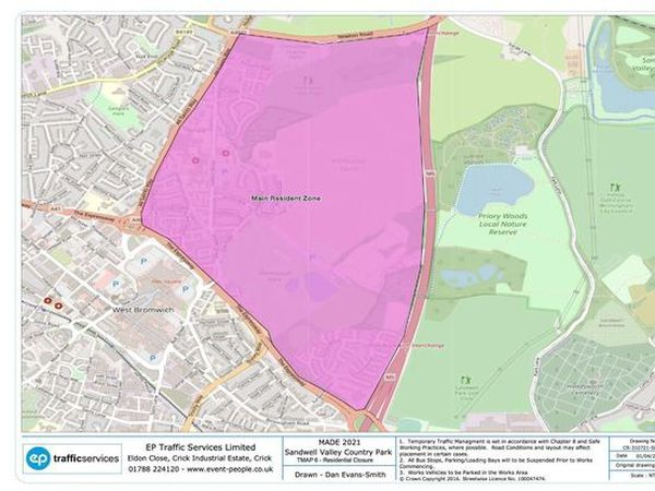 Residents living in the pink zone will be contacted about road closures and parking restrictions to stop those attending the festival parking on surrounding streets