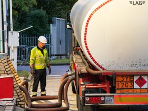 A fuel tanker and driver