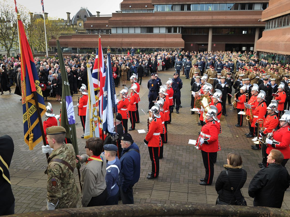 Remembrance Day, at St Peters' Square, Wolverhampton