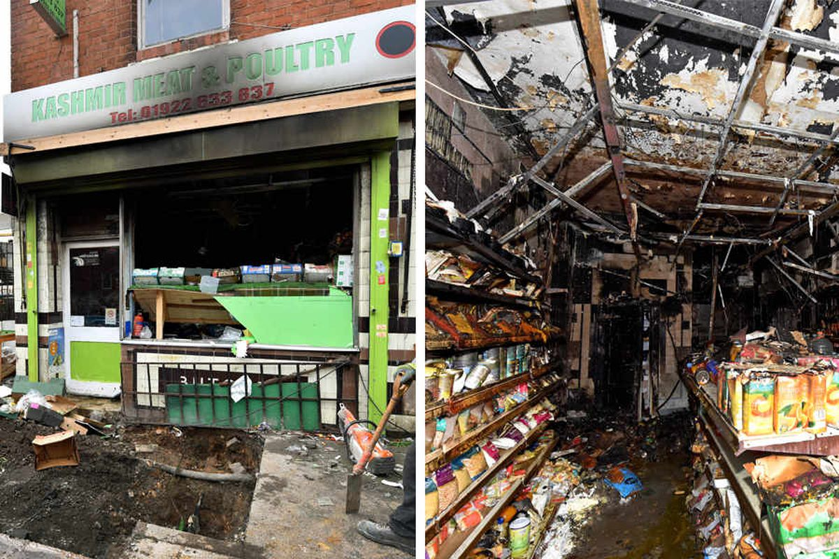Halal butchers worker hit by 'petrol bomb' thrown into Walsall store