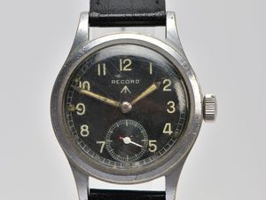 This Record 'Dirty Dozen' military wristwatch is a good example of the strict specifications laid out by the British MoD in World War Two.