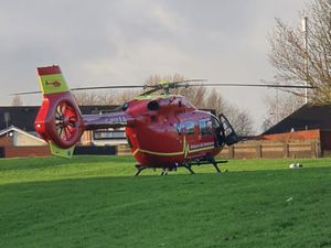 An air ambulance was sent to the scene