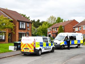 Police at the scene in Bartley Green. Photo: SnapperSK