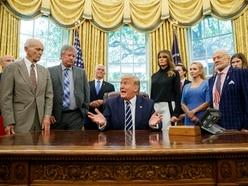 Trump meets Apollo 11 astronauts on 50th anniversary of moon landing