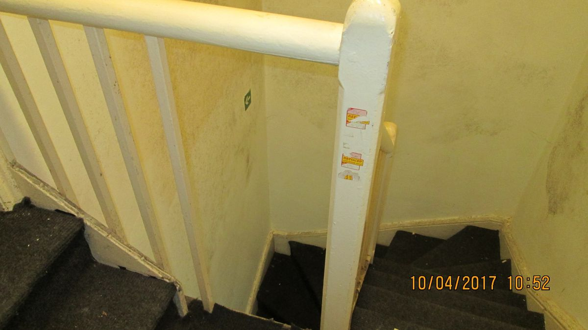 Seven out of 11 flats were being lived in when inspectors visited