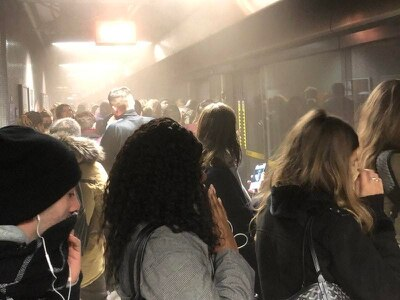 Tube stations evacuated due to dust cloud