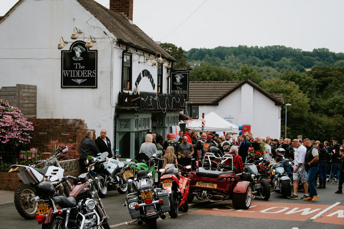 Hundreds of bikers took part in the second annual fundraising ride-out