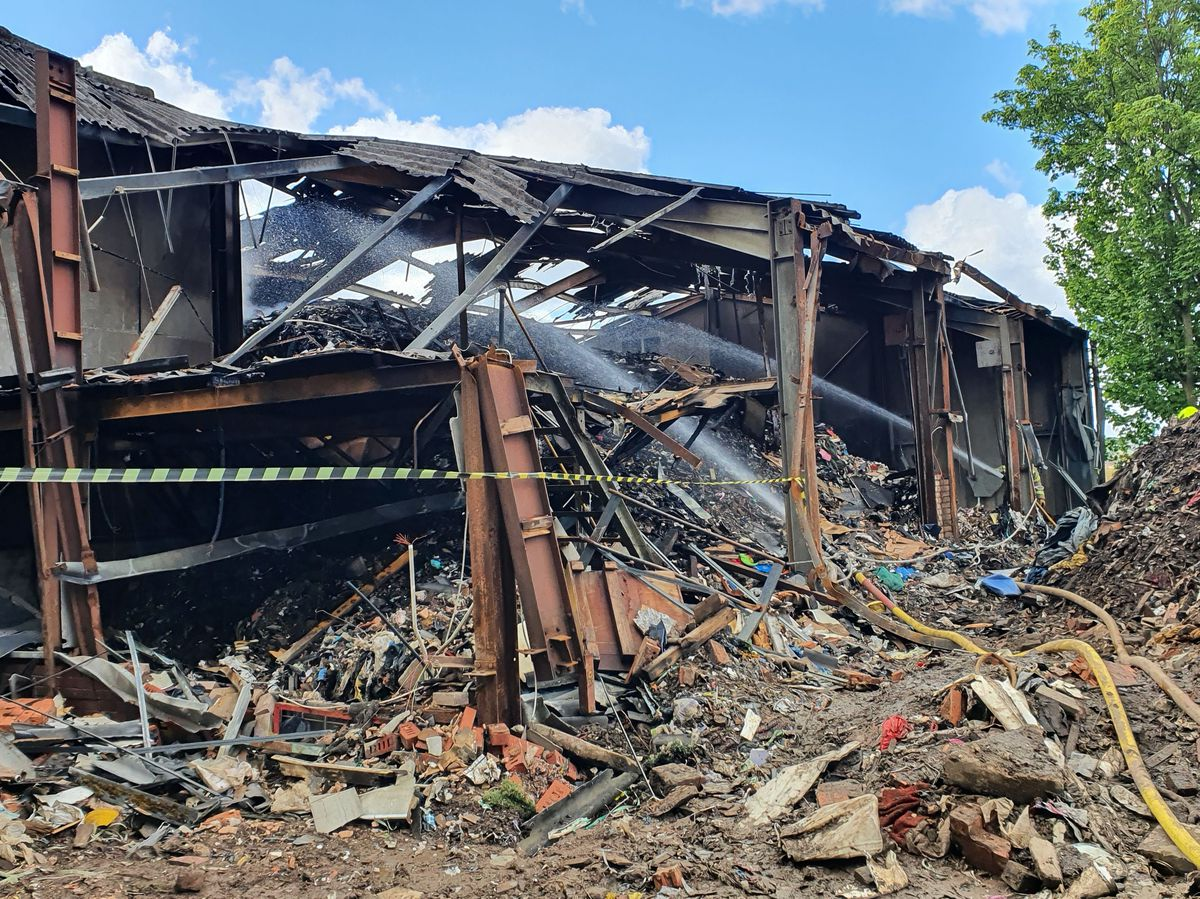 The fire ripped through the building, leaving it on the verge of collapse