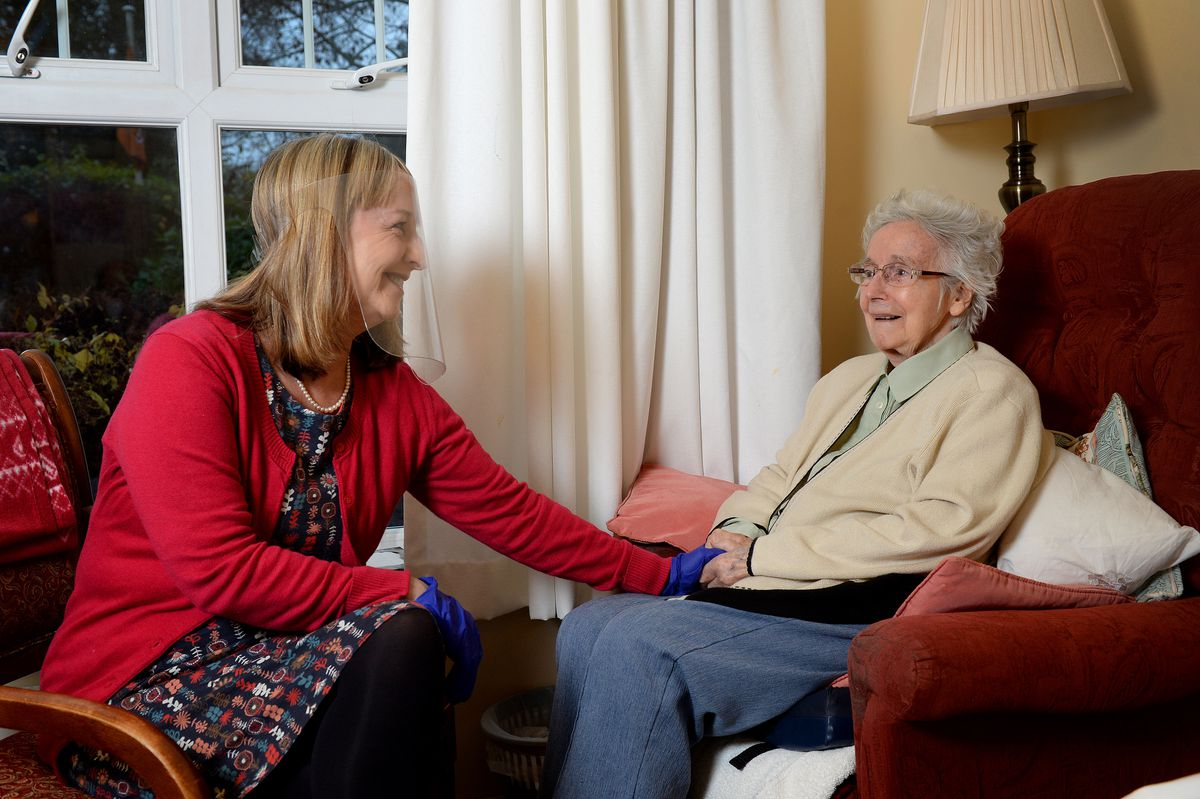 Back together – Sian Stenton is able to have meaningful visits to her mother Margaret Edwards thanks to a care home trial