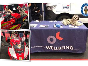 Truffles has been busy shaking paws with emergency service workers and members of the public this week. Photo: West Midlands Police